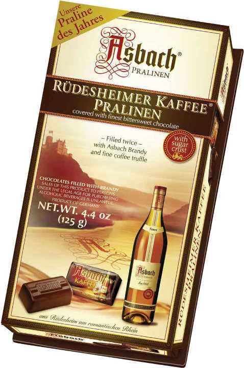 Asbach Brandy Coffee pralines (ALCOHOL) 21+ only (6 LEFT)
